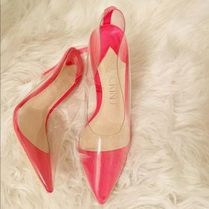 Pink clear shoes
